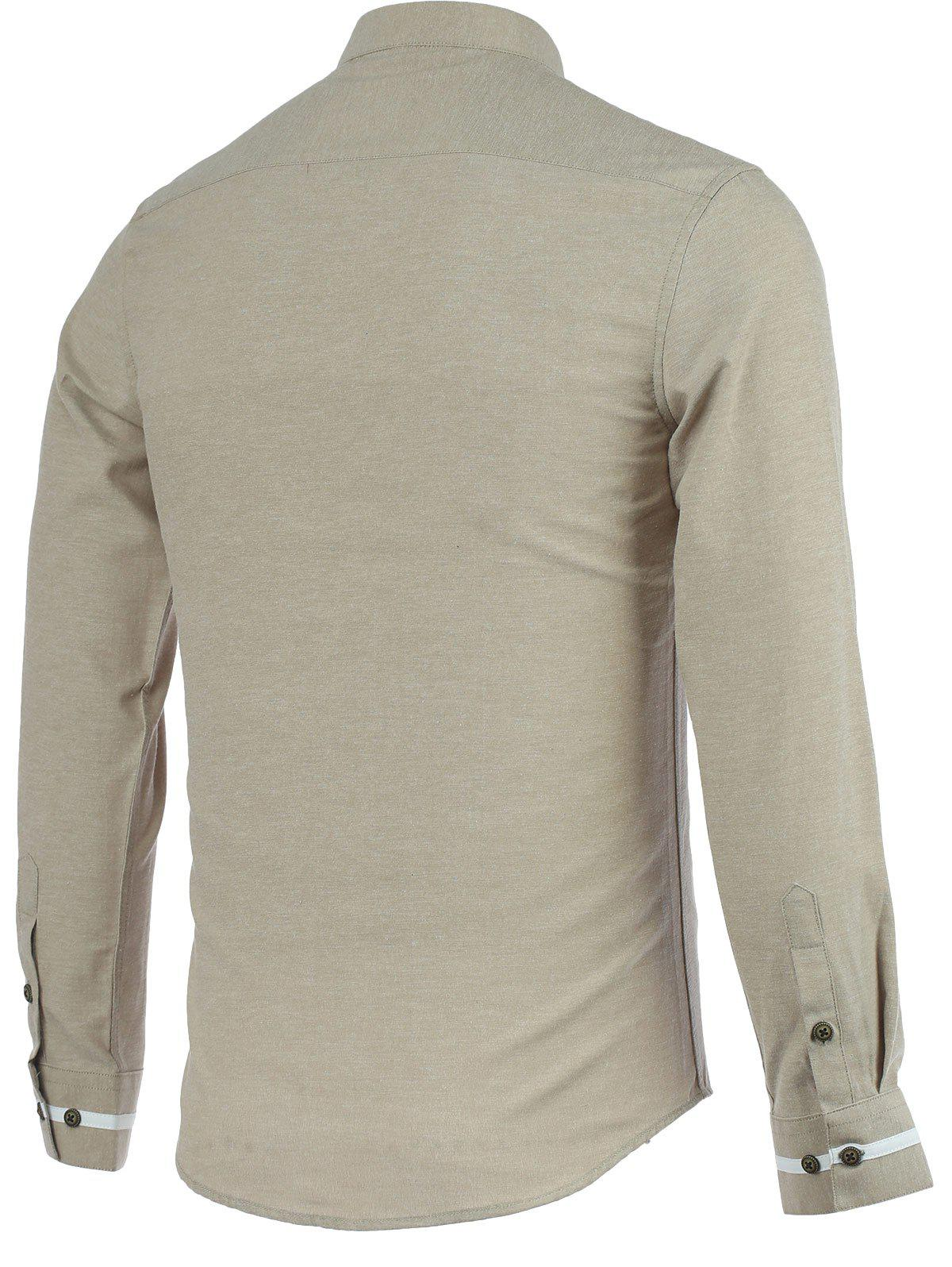 Bordures stand Collar manches longues - RAL Beige M