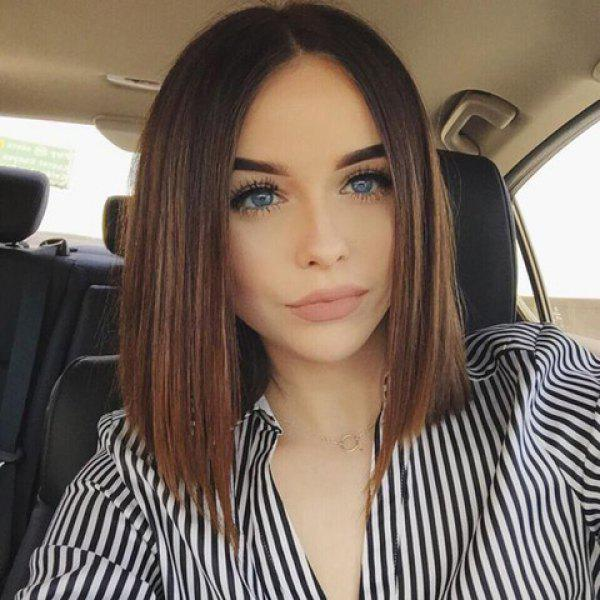 Noble Medium Brown Ombre Synthetic Silky Straight Capless Centre Parting Wig For Women