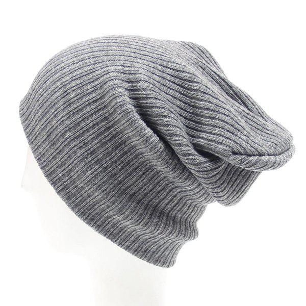 Stylish Hot Sale Simple Winter Outdoor Warm Knitted Beanie - GRAY