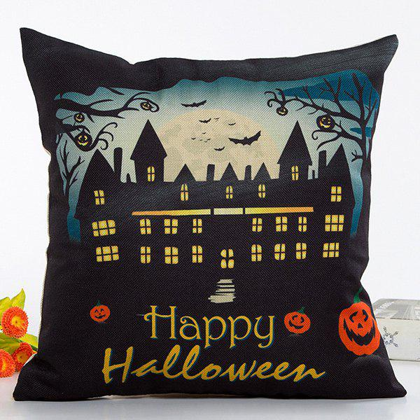 Retro House Light Happy Halloween Design Linon Pillow Case happy halloween soft pumpkins ghost printed pillow case