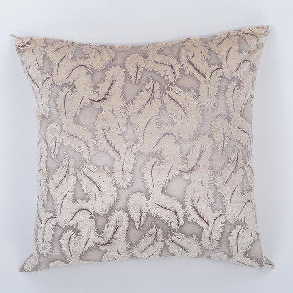 Simple Velvet Feather Jacquard Design Sofa Pillow Case - GOLDEN