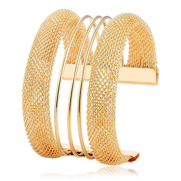 Hollow Out Alloy Adorn Bracelet - GOLDEN