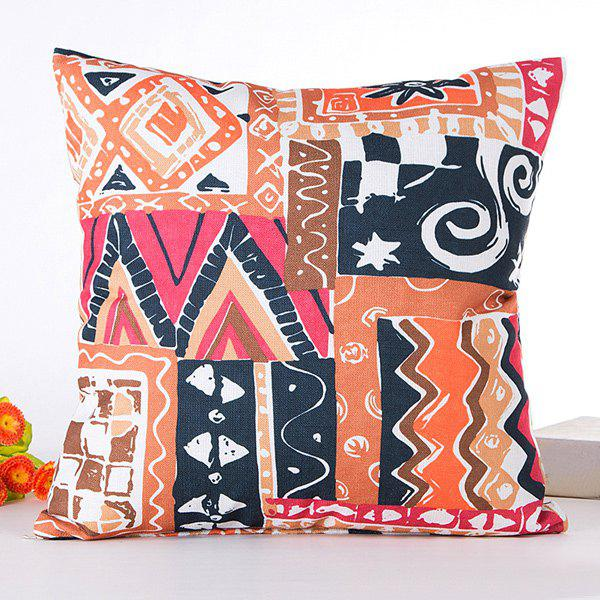 Irregular Geometry Pattern Backrest Square Pillow Case - COLORMIX