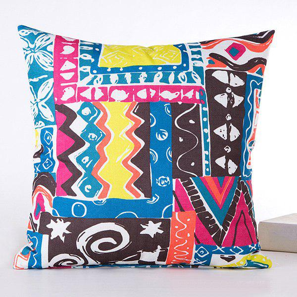 Sweet Joint Art Irregular Goemetry Graffiti Sofa Pillow Case - COLORMIX