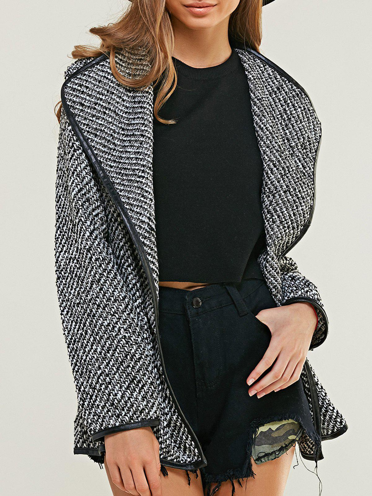 Trendy Faux Pocket Design Cardigan - GRAY L