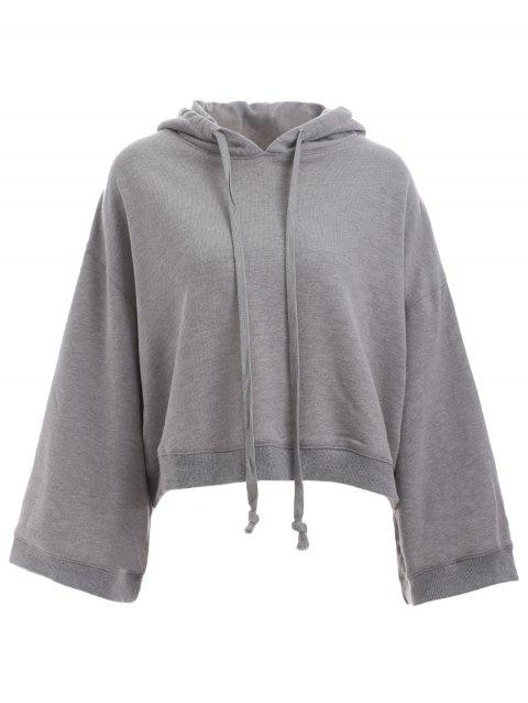 Trendy à manches longues Cropped vrac Hoodie - Gris S