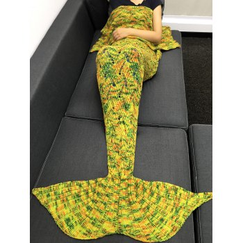 High Quality Yarn Knitted Hollow Out Design Warmth Mermaid Tail Blanket