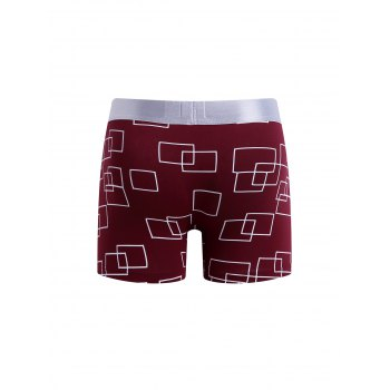 Cherlamode (Three Color) 3PCS Geometric Pattern Men's Boxer Briefs - COLORMIX XL