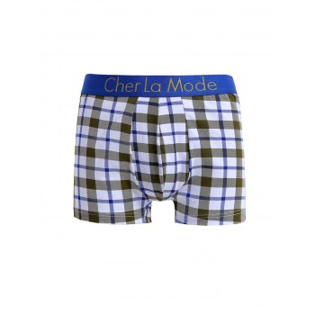 Cherlamode (trois couleurs) s 'Motif 3PCS Tartan Men  Boxer Briefs - multicolorcolore XL