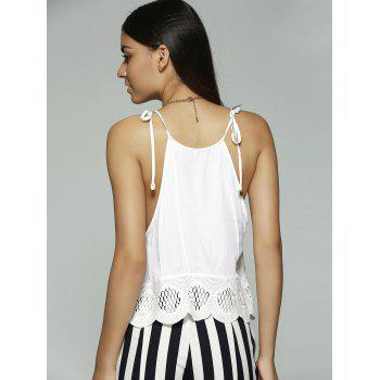 Ethnic Style Women's Slimming Spaghetti Strap Lace-up Top - L L