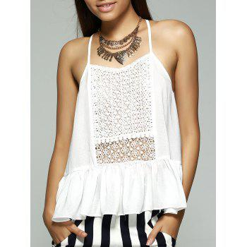 Sweet Women's Loose-Fitting Sweetheart Neckline Flounce Tank Top