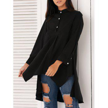 Stylish Asymmetrical Swing Shirt - BLACK XL