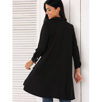 Stylish Asymmetrical Swing Shirt - BLACK L