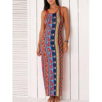 Ethnic Style Tribal Pattern Dress