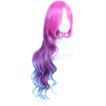 League of Legends LOL	Arcade Miss Fortune Multicolor Ombre Fluffy Wavy Long Cosplay Wig - COLORMIX