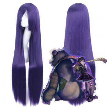 Buy League Legends LOL	Goth Annie Hitagi Riricho Silky Straight Purple Synthetic Cosplay Wig PURPLE