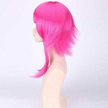 League of Legends LOLClassic Annie Rose Fluffy Straight Anti Alice Hair Cosplay Wig - ROSE RED