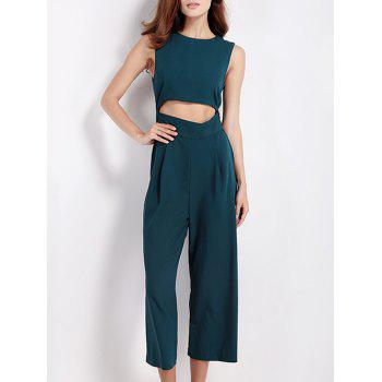 Hollow Out Tied Bowknot Jumpsuit