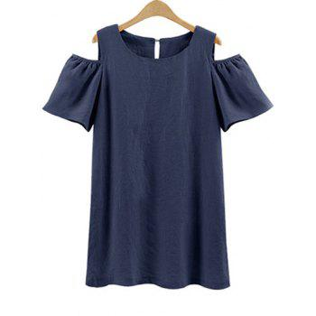 Plus Size Cold Shoulder Mini Dress