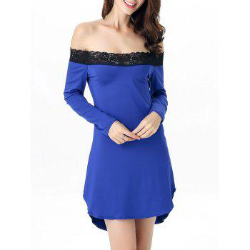 Off-The-Shoulder Laciness High Low Babydoll