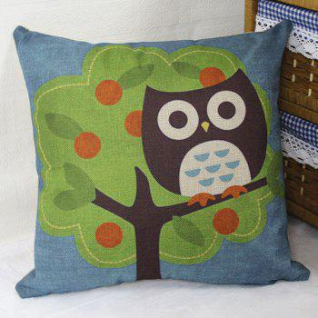 Night Owl On Fruit Tree Pattern Cartoon Pillow Case