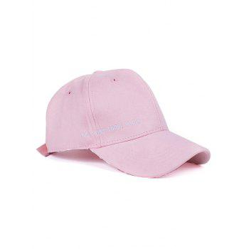 Letter Embroidery Candy Color Faux Suede Baseball Hat