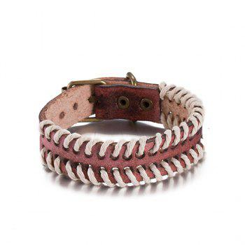 Woven Rope Faux Leather Bracelet