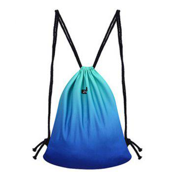 Casual Drawstring and Gradient Color Design Women's Backpack
