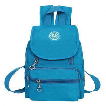 Leisure Zipper and Cover Design Women's Backpack