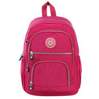 Leisure Zipper and Nylon Design Women's Backpack