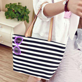 Casual Striped and Sunglasses Print Design Women's Shoulder Bag
