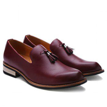 Retro Height Increasing and Tassels Design Men's Formal Shoes - 41 41