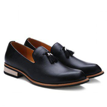 Retro Height Increasing and Tassels Design Men's Formal Shoes - BLACK 41