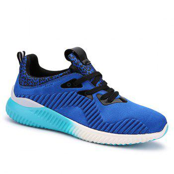 Trendy Lace-Up and Splicing Design Men's Athletic Shoes