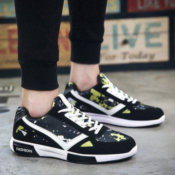 Trendy Lace-Up and Color Block Design Men's Athletic Shoes
