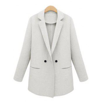 Lapel Neck Design Bouton Blazer