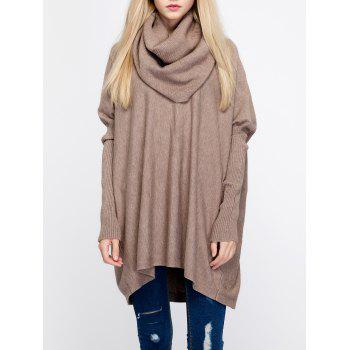 Oversized Turtleneck Tunic Long Sweater