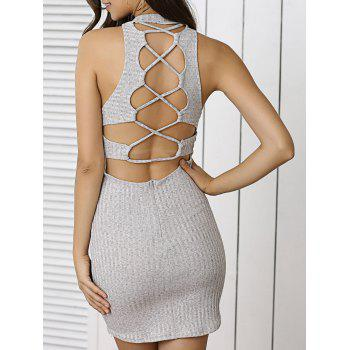 Lace Up Jumper Bodycon Club Dress