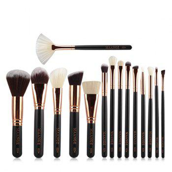 Cosmetic 15 Pcs Nylon Facial Eye Lip Makeup Brushes Set