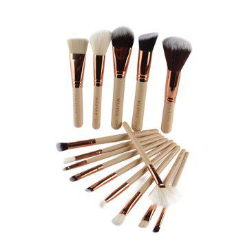 Cosmetic 15 Pcs Nylon Facial Eye Lip Makeup Brushes Set - COMPLEXION COMPLEXION