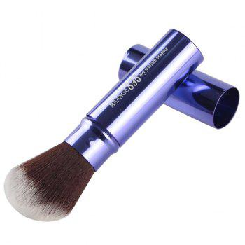 Cosmetic Telescopic Design Nylon Blush Brush - DEEP BLUE