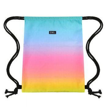 Casual Drawstring and Gradient Color Design Women's Backpack - COLORMIX