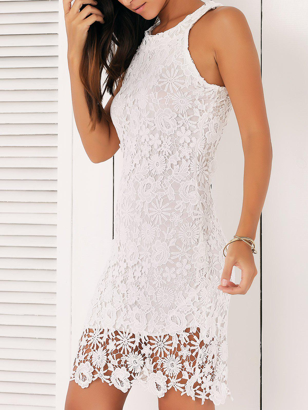 Alluring Guipure Lace Bodycon Dress