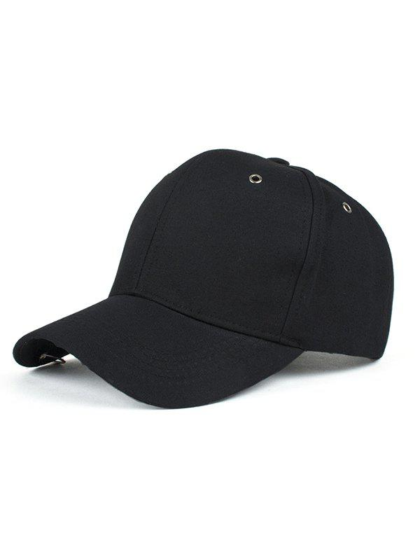 Circle Hoop Embellished Hip Hop Baseball Hat - BLACK