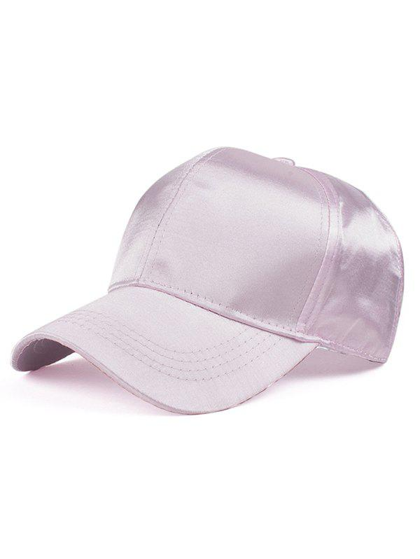 Press Buckle Smooth Satin Baseball Hat