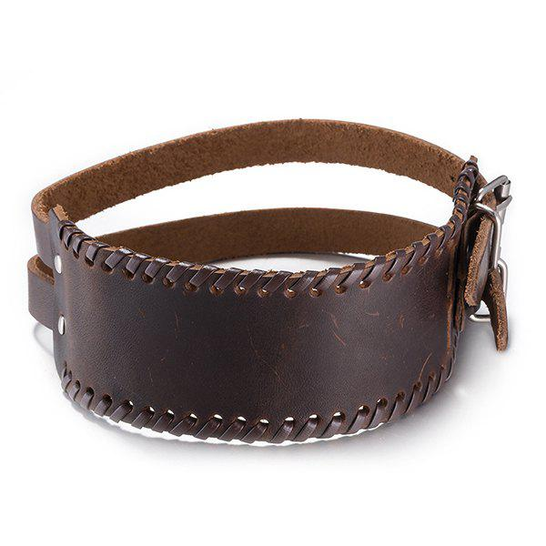 Delicate Faux Leather Hollow Out Bracelet - BROWN