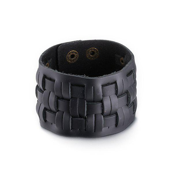 Vintage Faux Leather Woven Bracelet
