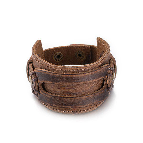 Punk Faux Leather Wide Bracelet картридж hp c8767he