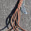 Chic Faux Leather Leaf Pendant Keyring - BROWN