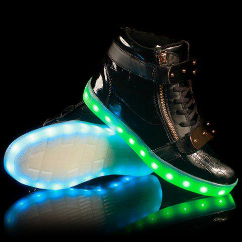Lights Up Led Luminous Shoes - BLACK 42
